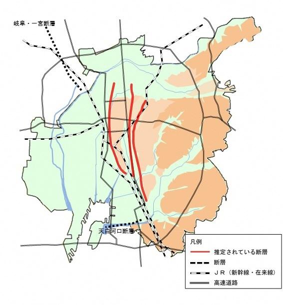 名古屋市:名古屋市付近に推定されている断層に関する報告書について ...