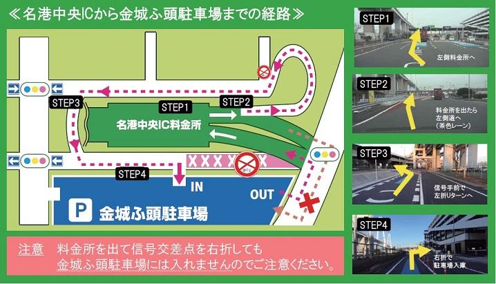 高速道からのアクセス