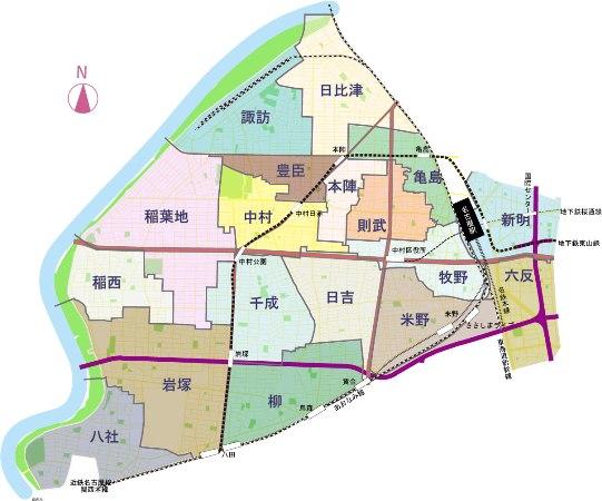 名古屋市:中村区の学区(中村区)