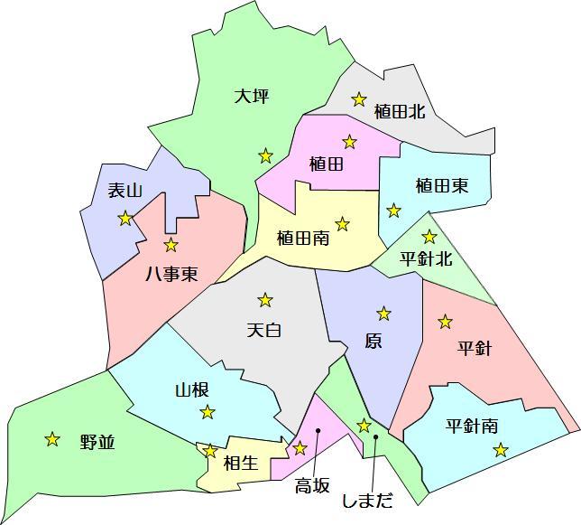 名古屋市:天白区の学区(天白区...