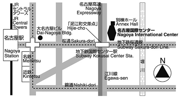 Nagoya International Center Mapa